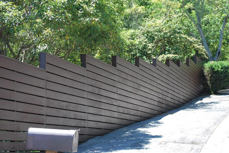 cedar or redwood fence fences